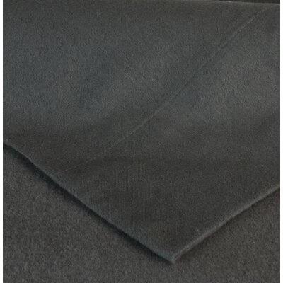 Flannel Sheet Set Size: Twin, Color: Charcoal