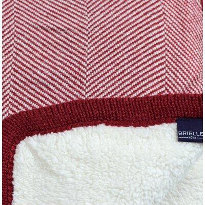 Cheshire Herringbone Throw Blanket Color: Brick Red