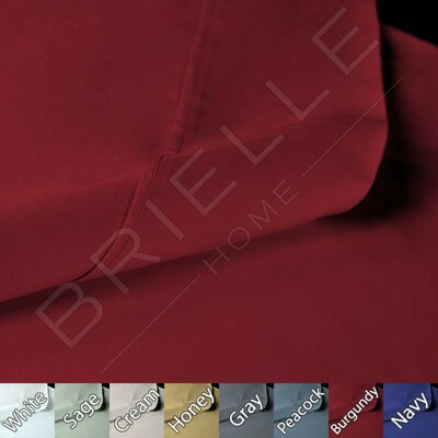 Sateen 100% Modal 300 Thread Count Sheet Set Color: Red, Size: Cal-King