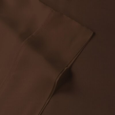 Rayon from Bamboo Pillow Case Size: King, Color: Brown