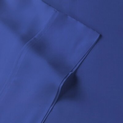 Rayon from Bamboo Pillow Case Size: King, Color: Navy
