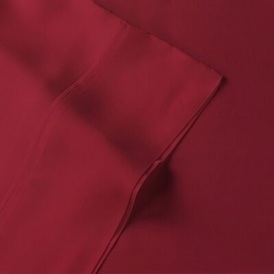 Rayon from Bamboo Pillow Case Size: Standard, Color: Burgundy