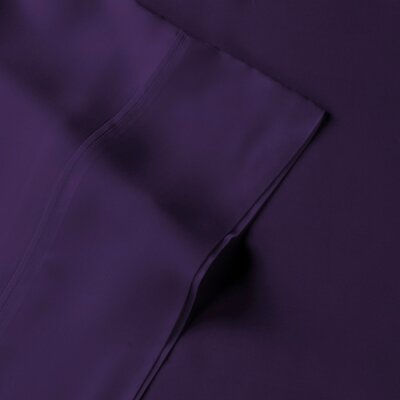 Rayon from Bamboo Pillow Case Size: Standard, Color: Royal Purple