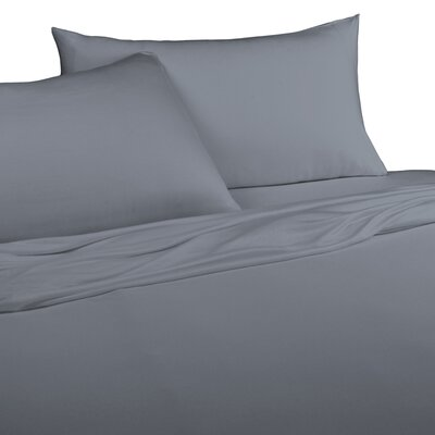 Jersey Knitted 100% Modal Pillow Case Size: Standard, Color: Graphite