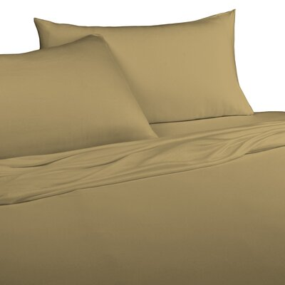 Jersey Knitted 100% Modal Pillow Case Size: King, Color: Camel