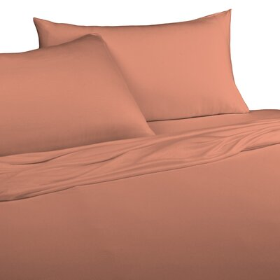 Jersey Knitted 100% Modal Pillow Case Size: Standard, Color: Coral