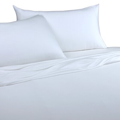 Jersey Knitted 100% Modal Pillow Case Size: King, Color: White