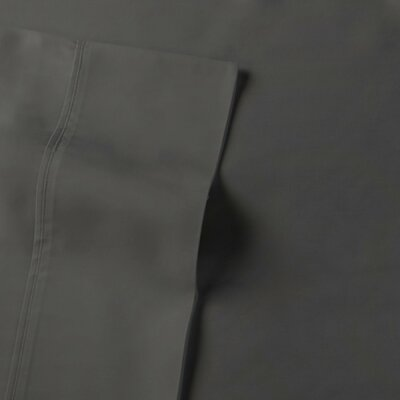 Rayon from Bamboo Sateen Premium Pillow Case Size: Standard, Color: Gunmetal