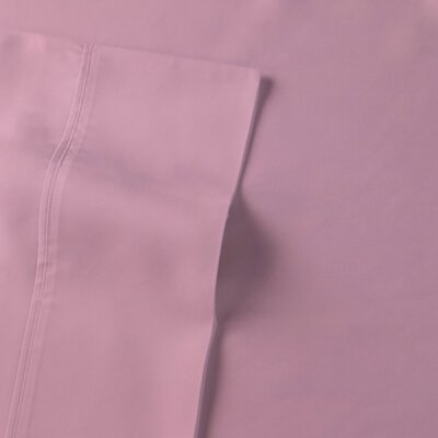 Rayon from Bamboo Sateen Premium Pillow Case Size: Standard, Color: Cameo Pink