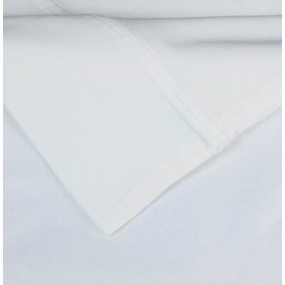Cotton Rich Sateen Pillow Case Color: White, Size: Standard