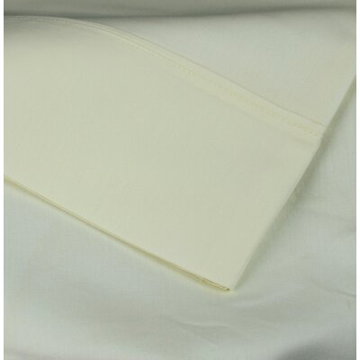 Cotton Rich Sateen Pillow Case Size: King, Color: Ivory