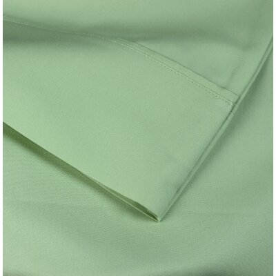 Cotton Rich Sateen Pillow Case Size: Standard, Color: Cypress Green