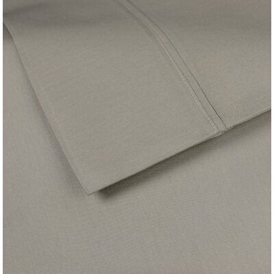 Cotton Rich Sateen Pillow Case Size: Standard, Color: Aluminum Grey