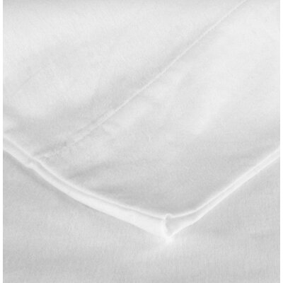 Flannel Pillow Case Size: King, Color: White
