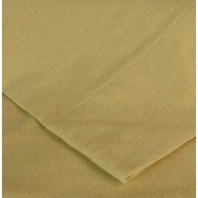 Flannel Pillow Case Size: King, Color: Camel