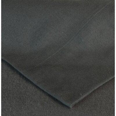 Flannel Pillow Case Size: Standard, Color: Charcoal