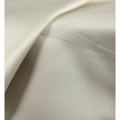 Premium Modal Sateen Pillow Case Size: Standard, Color: Ivory