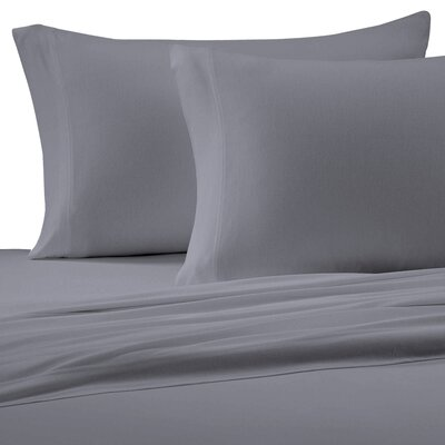 Jersey Cotton Knit Pillow Case Size: King, Color: Gray