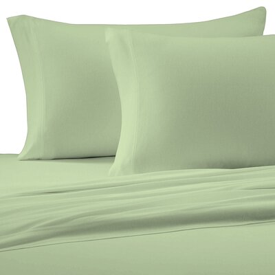 Jersey Cotton Knit Pillow Case Size: Standard, Color: Sage