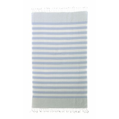 Pestemal Striped Turkish Bath Towel Color: Blue