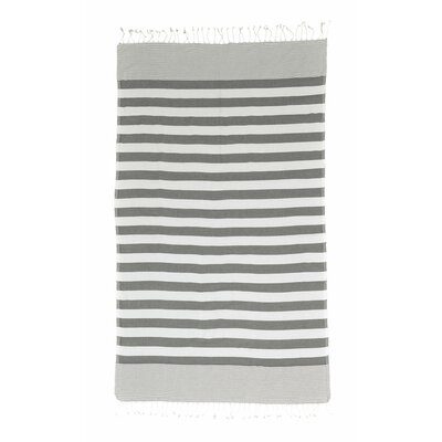 Pestemal Striped Turkish Bath Towel Color: Grey