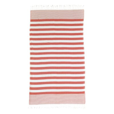 Pestemal Striped Turkish Bath Towel Color: Red
