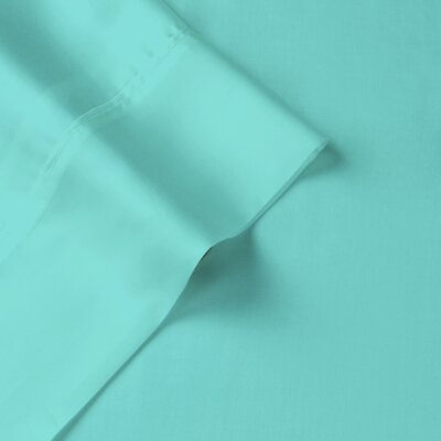 Tencel-Lyocell Sateen 300 Thread Count Duvet Cover Size: King, Color: Aqua