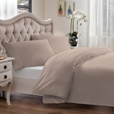 Modal Reversible Duvet Cover Set Size: Twin, Color: Taupe