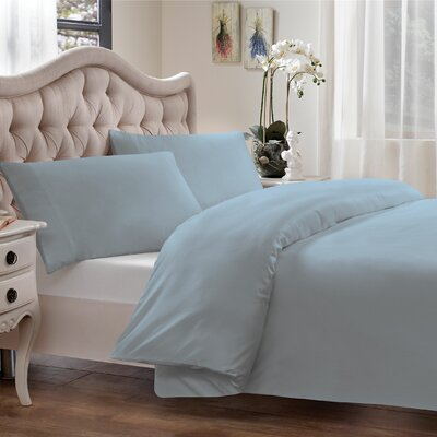 Modal Reversible Duvet Cover Set Size: King, Color: Blue