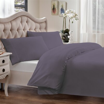 Modal Reversible Duvet Cover Set Size: Twin, Color: Purple
