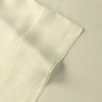 Rayon from Bamboo 300 Thread Count Sheet Set Size: King, Color: Ivory