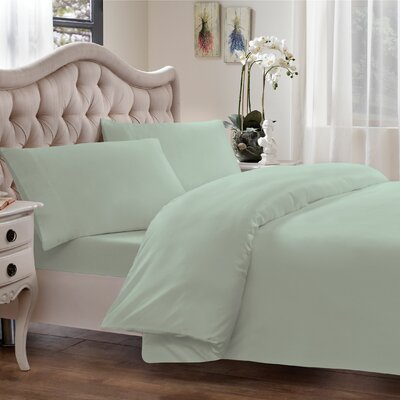 Egyptian Quality Cotton Sateen Premium 600 Plus Thread Count Duvet Color: Sage, Size: King