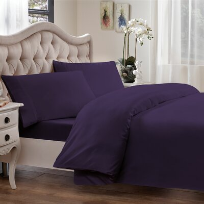 Egyptian Quality Cotton Sateen Premium 600 Plus Thread Count Duvet Size: King, Color: Royal Purple