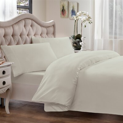 Egyptian Quality Cotton Sateen Premium 600 Plus Thread Count Duvet Size: King, Color: Ivory