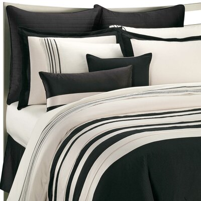 Stratosphere Pillow Sham Color: Black / Cream