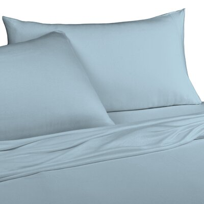 Jersey Knitted 100% Modal Pillow Case Size: King, Color: Light Blue