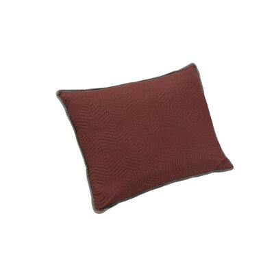 Honeycomb Sham Size: King, Color: Red/Grey