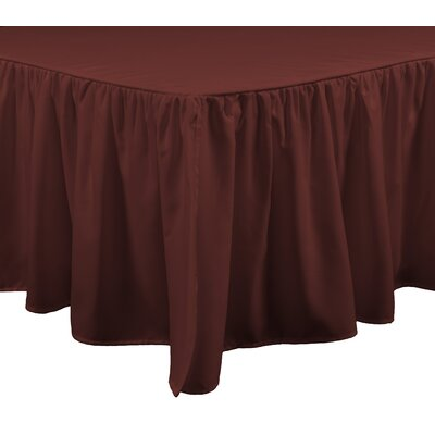 Honeycomb Bed Skirt Size: King, Color: Russet Red