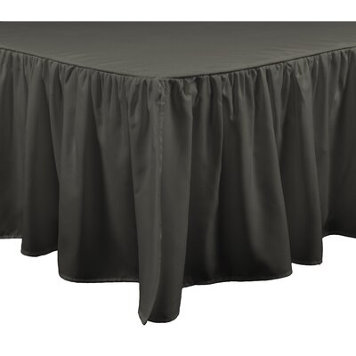 Honeycomb Bed Skirt Size: Twin, Color: Gunmetal
