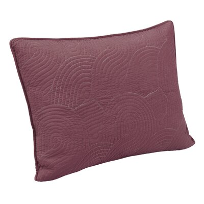 Wave Sham Size: Standard, Color: Deco Rose/Gray