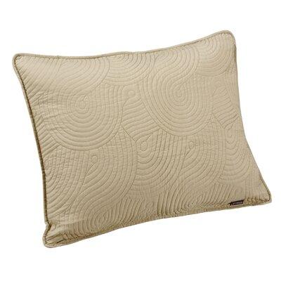 Wave Sham Size: Standard, Color: Seafoam/Linen