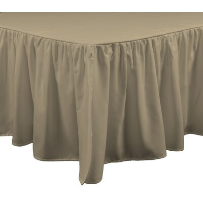 Wave Bed Skirt Size: King, Color: Linen