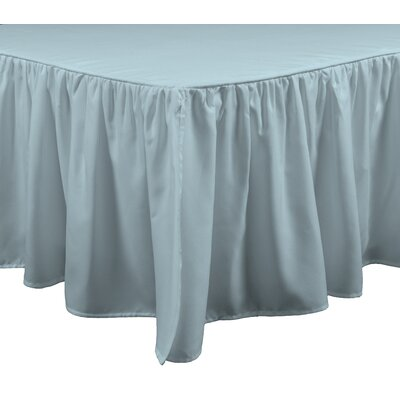 Wave Bed Skirt Size: King, Color: Seafoam