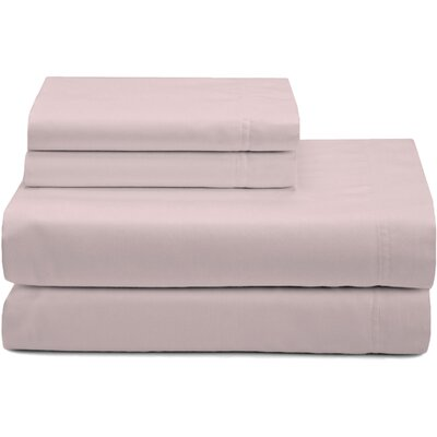 Premium 320 Thread Count Sateen Sheet Set Color: Blush, Size: California King