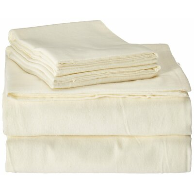 100% Cotton Flannel Sheet Set Color: Natural, Size: Twin