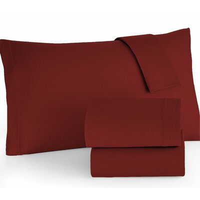 Easy Care Sheet Set Color: Red, Size: Twin