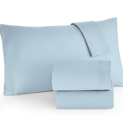 Easy Care Sheet Set Color: Spa Blue, Size: Full/Double