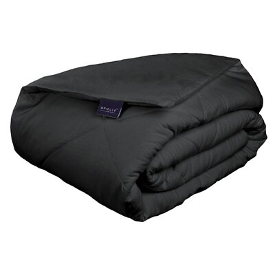Cotton Flannel Down Alternative Comforter Color: Charcoal, Size: Twin