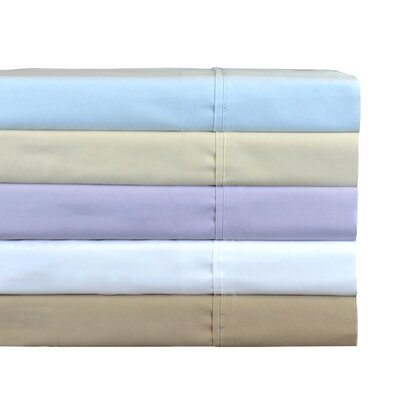 380-Thread Count Cotton Sateen Sheet Set Color: Blue