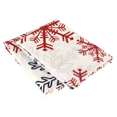 Snowflake Flannel Pillow Case Size: King